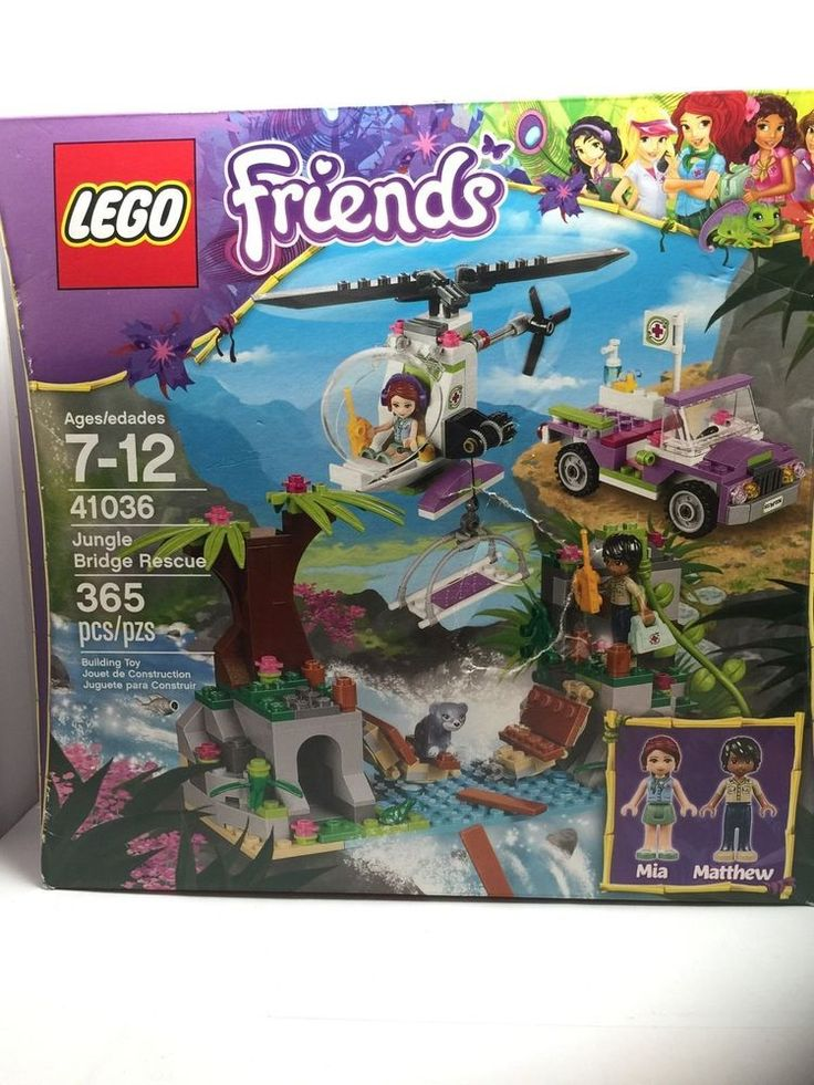 Lego Building Set Friends 41036 Jungle Bridge Rescue with Minifigs and Animals #LEGO