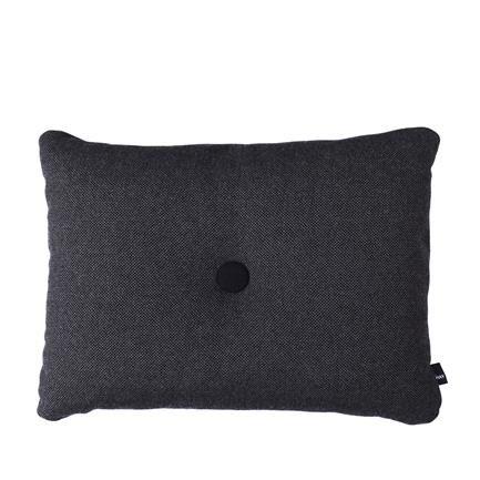 Dot Cushion Hallingdal, dark grey, Hay, Hay