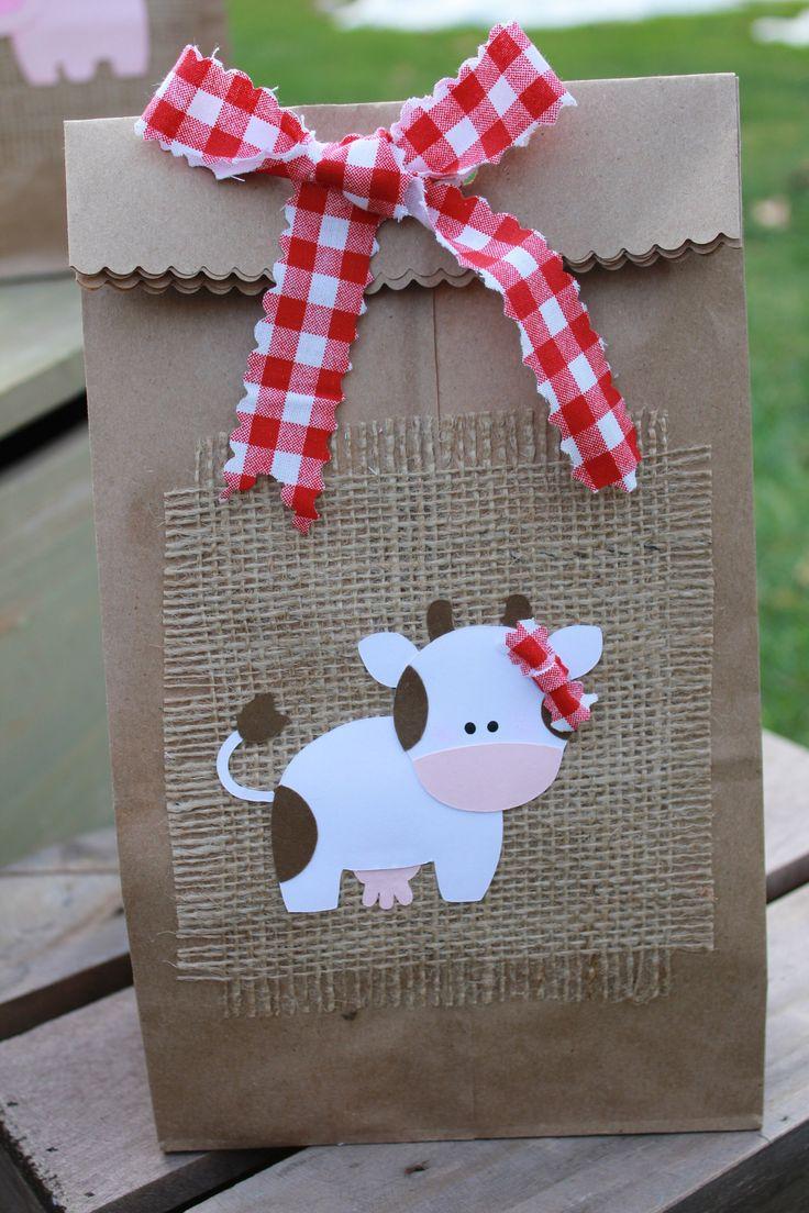 Farm party favor/barnyard favor bag/barnyard party decoration/farm birthday party/barnyard birthday party/barnyard goody bag/treat bags/bags