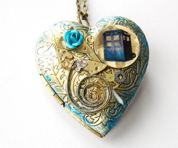 Doctor Who Necklace Heart of Time Itself by BlueNightJewelry
