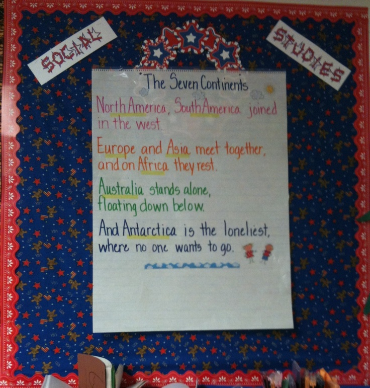 Social Studies ... the 7 continents.: Geography Poem