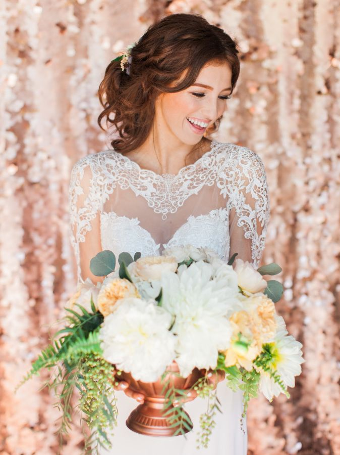 Touch of Glam Rose Gold Wedding Inspiration