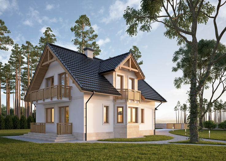 LK&639 Dom jednorodzinny, parterowy z poddaszem użytkowym i jednostanowiskowym garażem. Projekt wykonany w technologii IZODOM 2000  - technologii dedykowanej do budowy domów energooszczędnych i pasywnych . Więcej na: http://lk-projekt.pl/lkand639-produkt-697.html