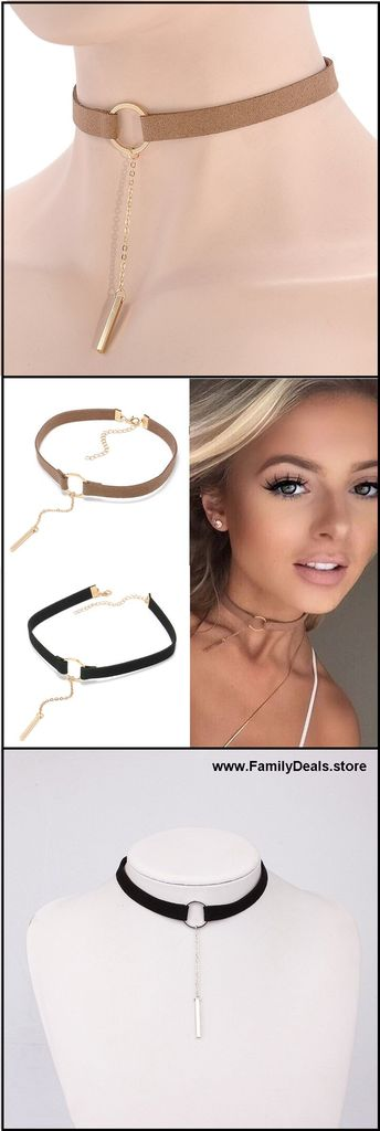 $11.90 + Free Shipping. Genuine Leather Choker Necklace With Gold / Silver Round Pendant Collar