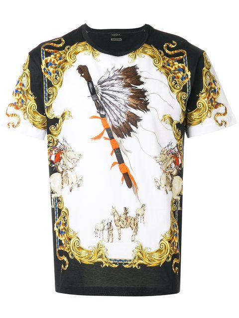 c3ec2345e94a26 Versace Native American Tribute T-shirt - Farfetch