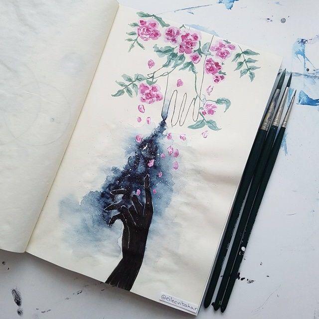 Aquarelles Art Dessins Illustrations Creatives Tumblr Art