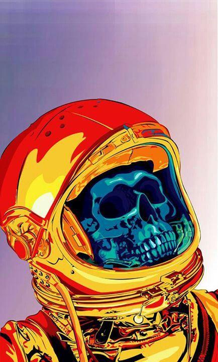 Astronaut skull | Design | Pinterest | Astronauts and Skulls