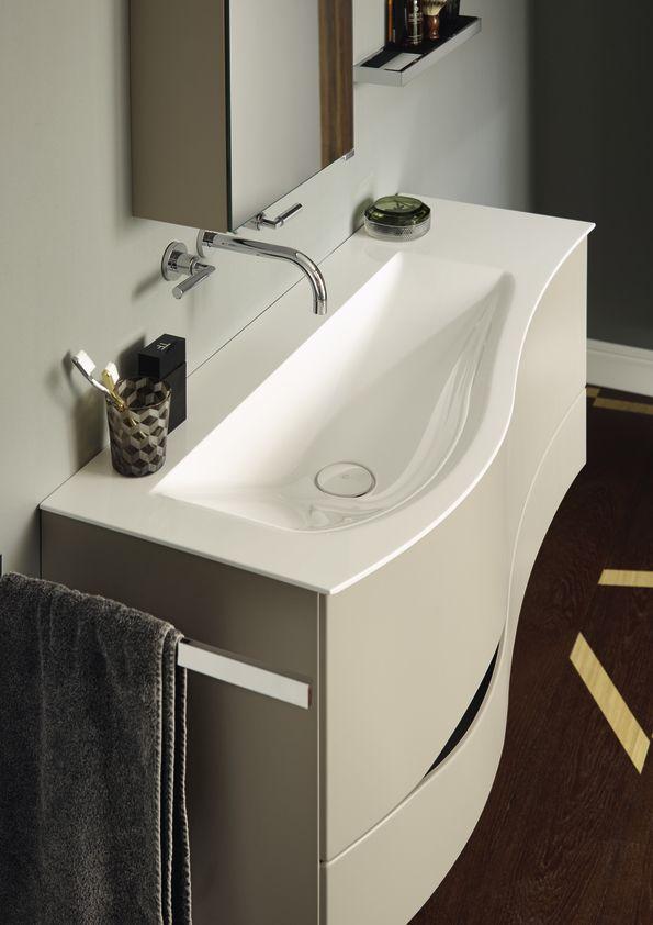 burgbad sinea washbasin with organic asymmetric volume distribution sinea pinterest. Black Bedroom Furniture Sets. Home Design Ideas