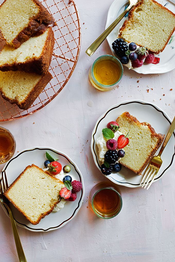Marsala Pound Cake--A dense and delicious pound cake lightly flavored and glazed with sweet marsala wine.