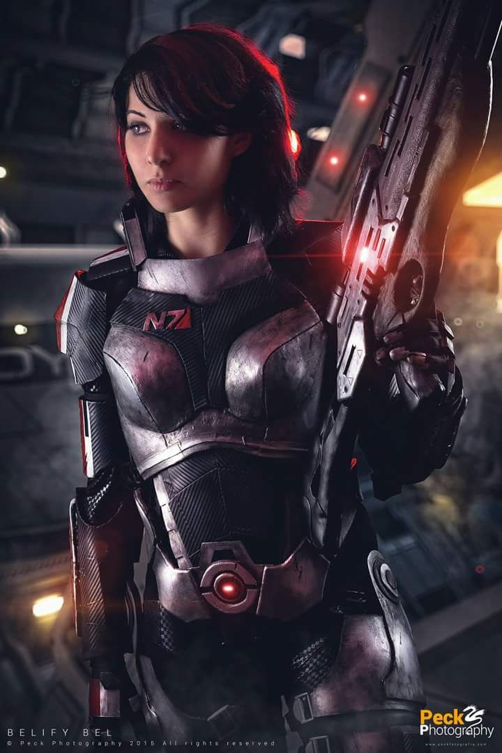 Cosplayer: Belify Bel Cosplay. Cosplay: Commander Sheppard from Mass Effect. Country: Spain. Photo by: Peck Photography.