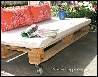 Pallet Furniture 1600x1262 Hallway Happenings Pallets Become Outdoor Furniture