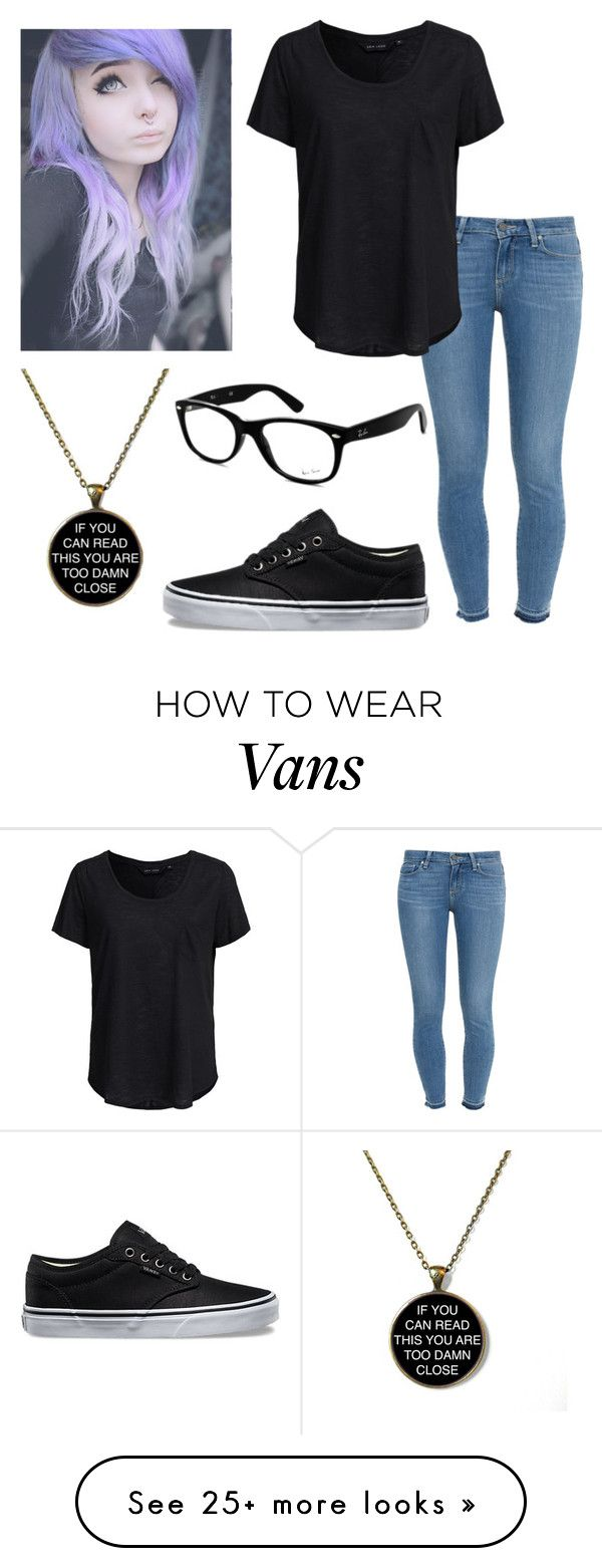 """""""Untitled #30"""" by skyswetay-2000 on Polyvore featuring Paige Denim, New Look, Vans and Ray-Ban"""