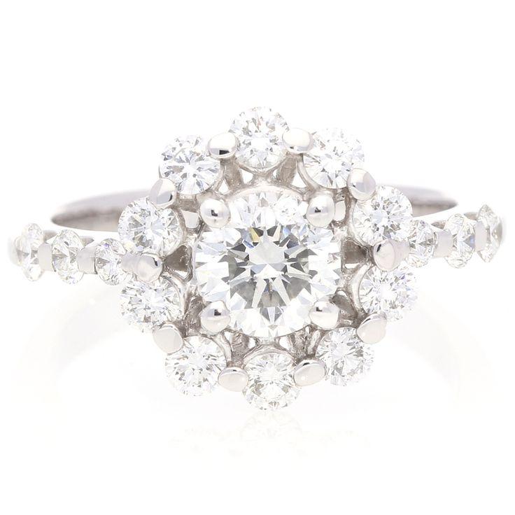18K White Gold Diamond Cluster Ring For Sale by Uwe Koetter.    www.uwekoetter.com