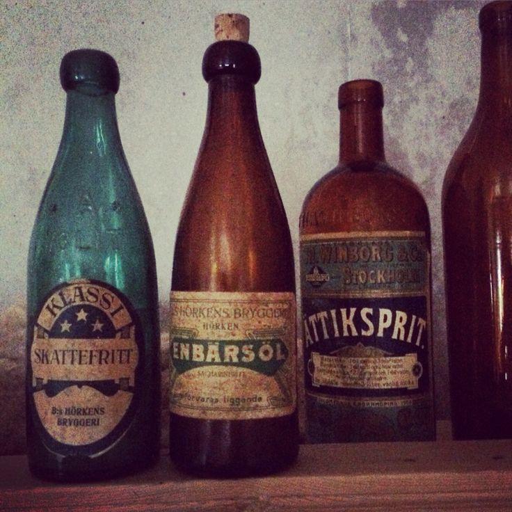 Gamla flaskor #hörken