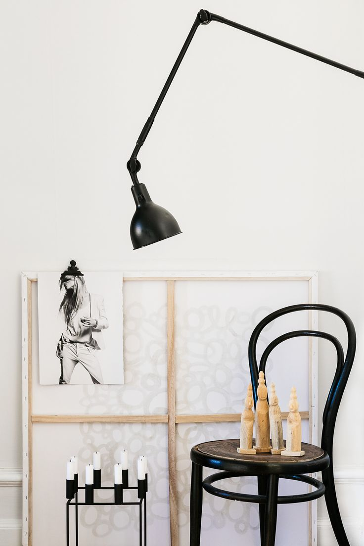 Gravity Home — Black and white home of a fashion blogger (styling...