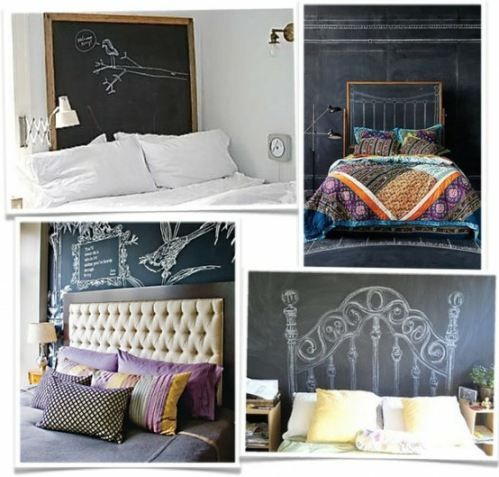 354 best images about for Painted headboard on wall
