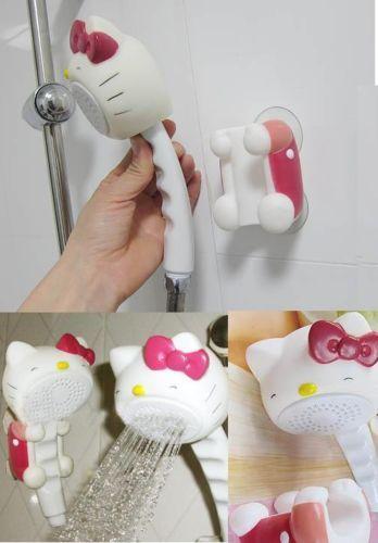 Lovely Plastic Hello Kitty Bathroom Rain Shower Head Mount Set Bath Strainer | eBay