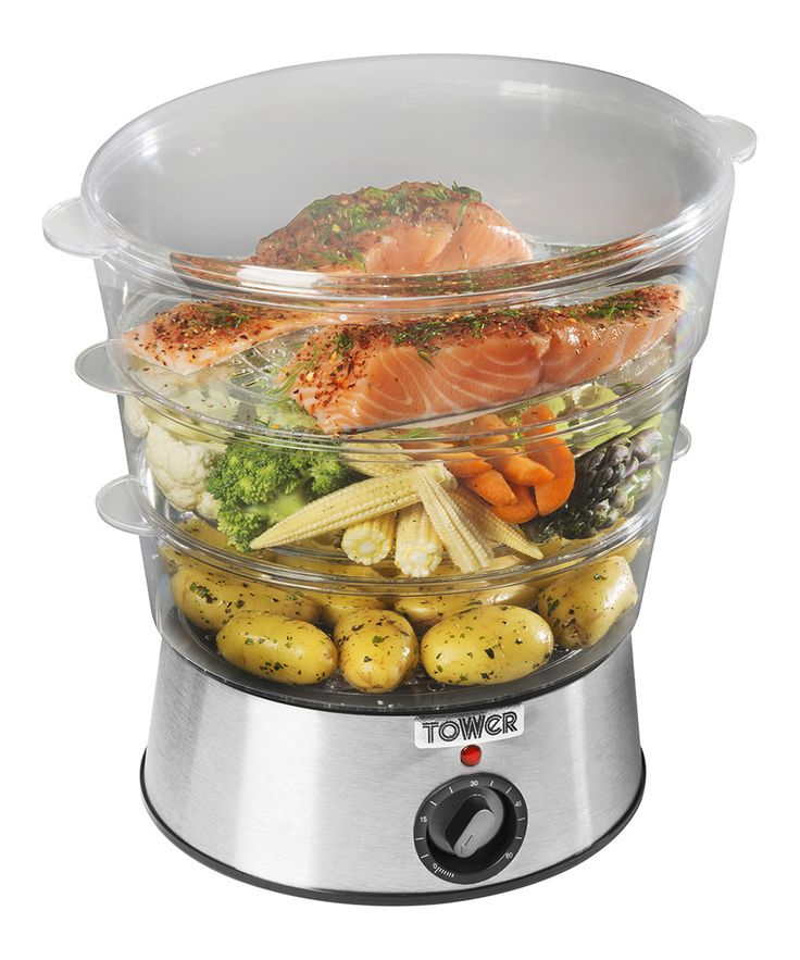 56 % off - Tower Clear 3-tier steamer 5.5L, Designer Sale, Healthy Eating Appliances, SECRETSALES