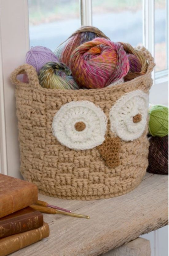 Owl Basket Crochet Free Pattern Perfect For Yarn | The WHOot