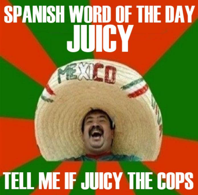 Spanish word of the day is Juicy : Meme Collection