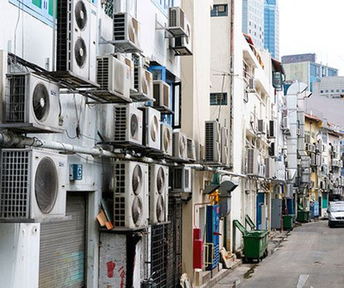 Room air conditioners are so much cheaper than central air conditioners.  Whats the difference?