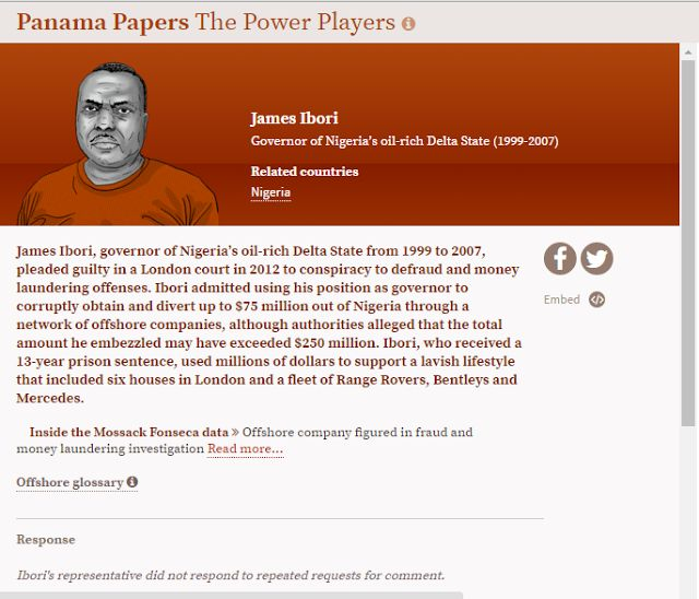 James Ibori listed in Panama Papers the biggest leak of financial data in history