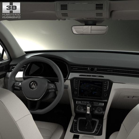 Volkswagen Passat B8 Sedan With Hq Interior 2014 Volkswagen Cc Volkswagen Passat Volkswagen