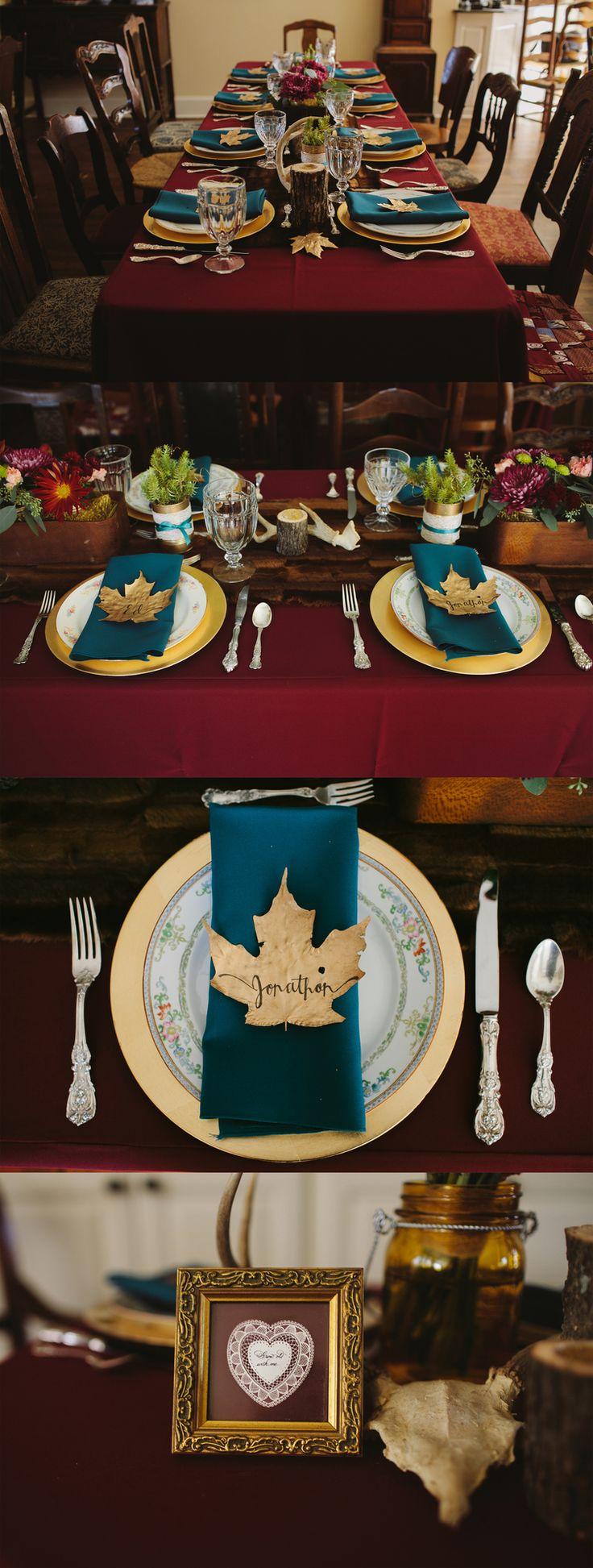 Autumn wedding tables. Fall wedding decor