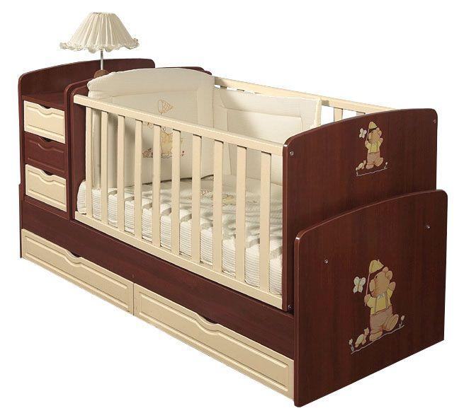 Κουνιστό πολυμορφικό κρεβατάκι μωρού 3σε1  Bella