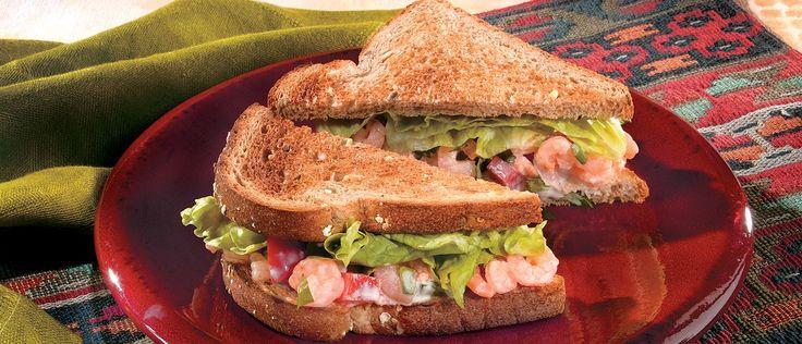 Mexican Shrimp Salad Sandwiches
