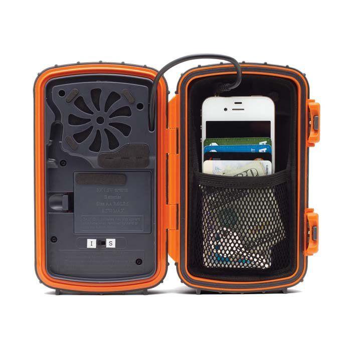 Waterproof speaker phone case - great at the beach, canoeing, etc.