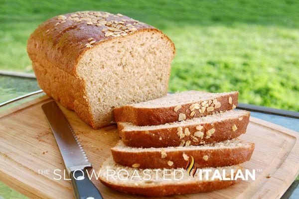 Honey Wheat Oatmeal Bread from theslowroasteditalian.com #recipe #bread #honey