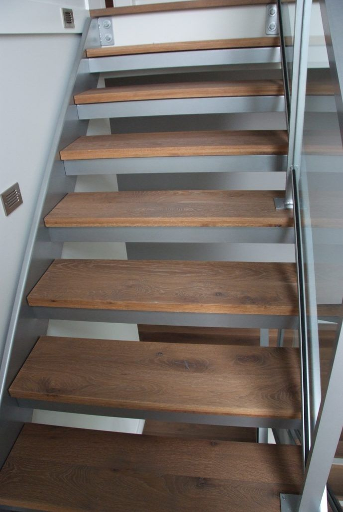 Wide Plank Hardwood | White Oak Stairs