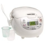 Zojirushi NS-ZCC10 5-1/2-Cup (Uncooked) Neuro Fuzzy Rice Cooker and Warmer, Premium White (Kitchen)By Zojirushi