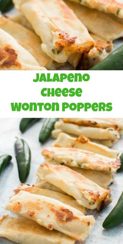 Cheesy Jalapeno Wonton Poppers