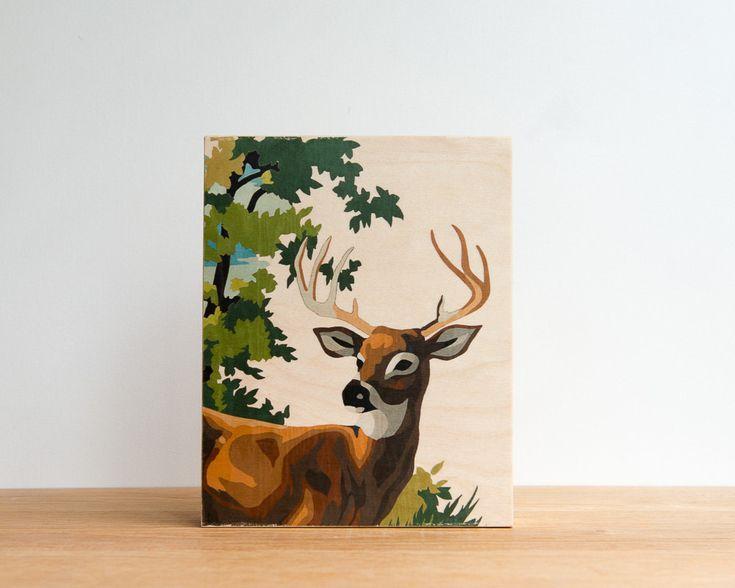 Malen nach Zahl Hirsche 'Young Buck' Art Block 8 von StudioLiscious