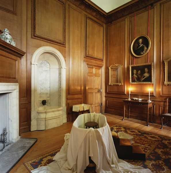 Glorious Georgian Bathing (image is of Queen Caroline's bathing room at Hampton Court Palace.)