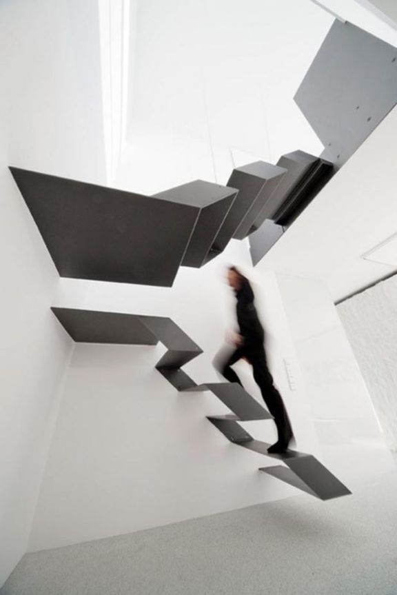 The Twisted Metal Staircase (via blog.laterooms.com)