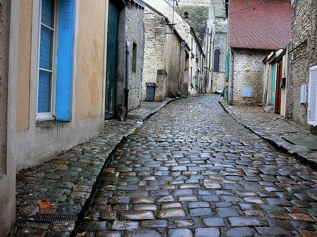 Cobblestone Street | Flickr - Photo Sharing! Street South of Paris, France.