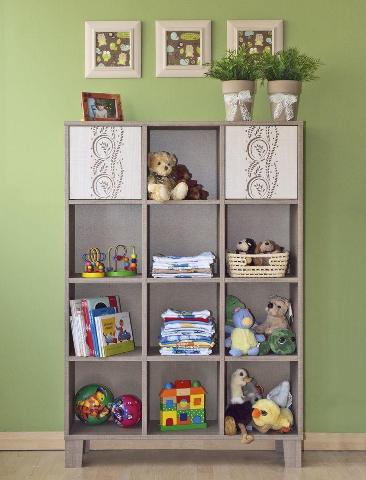 Holy wide cabinet with shelves /  Holly polcos széles szekrény
