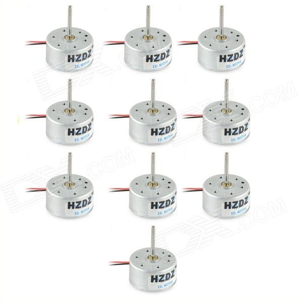 Operating voltage: 1.5~6V; 3V 3500 revolutions per minute; 6V 7000 revolutions per minute; Shaft Length: 18.5mm http://j.mp/1mc9q4h
