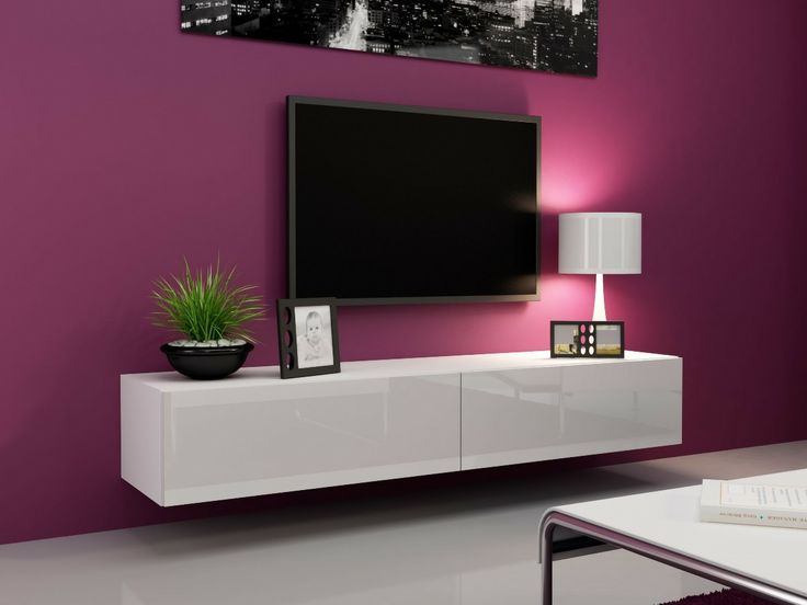 Mesa De Tv Flotante 2,10m todo laqueado $ 3000 en MercadoLibre.