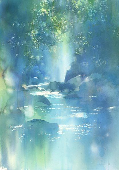 影と光 水彩画 : はるさき水彩画blog