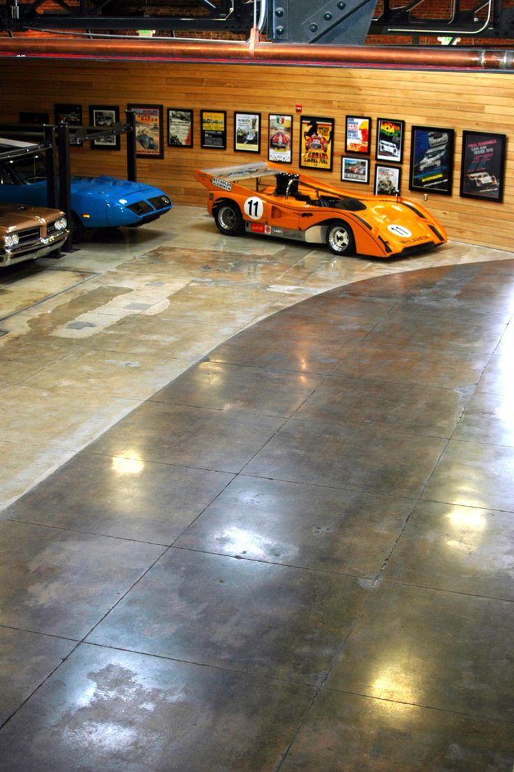 Car collector garage bomanite custom polishing systems for Garage mercedes 93 stains