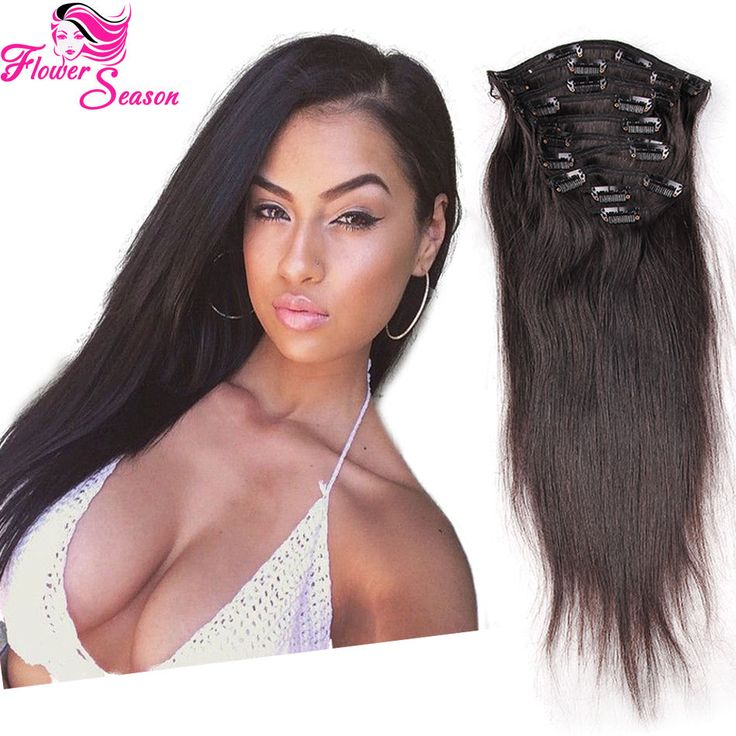 13 best luffywighair clip in hair extension images on pinterest natural color silky straight clip in hair extensions human hair for black women pmusecretfo Images