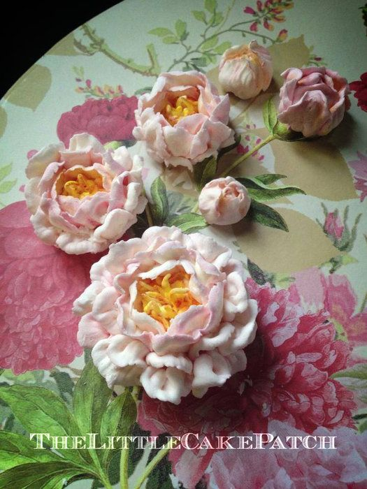 how to make peonies out of fondant