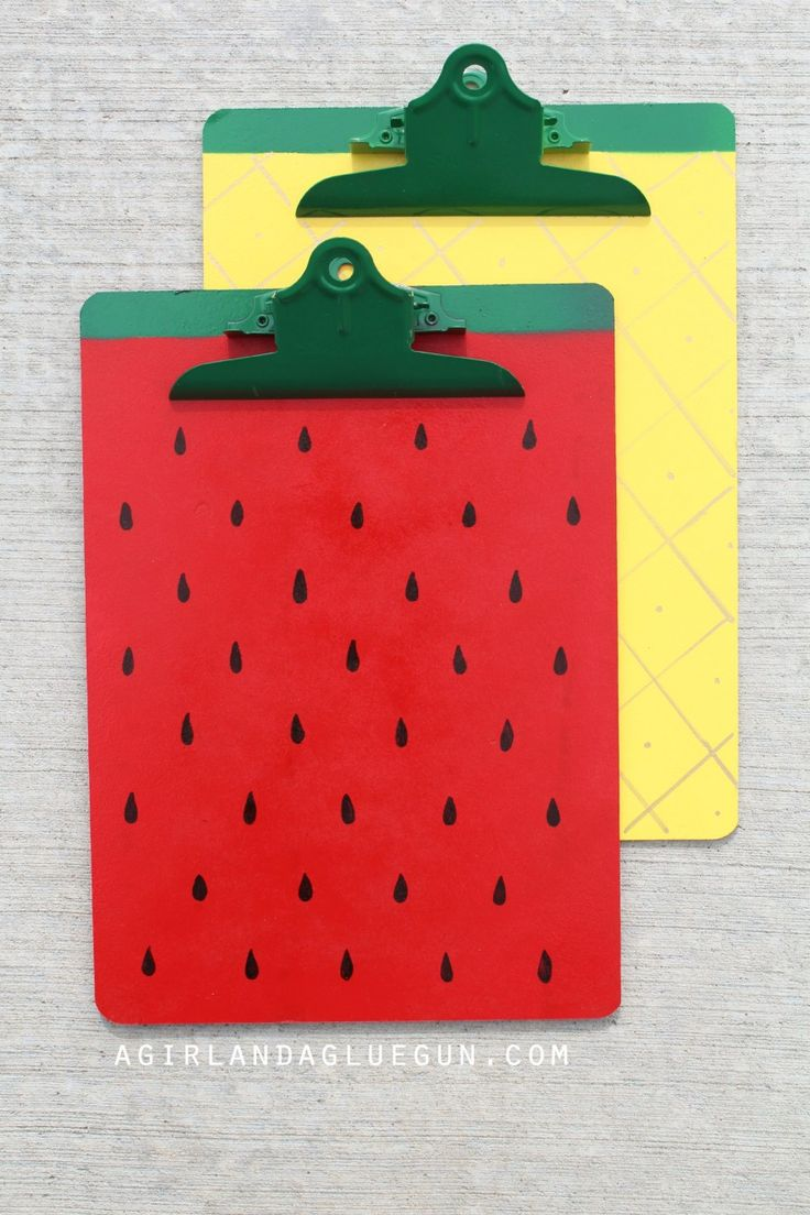 strawberry and pineapple fruit clipboards