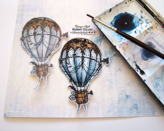 Steampunk Hot Air Balloon Coloring  - Gunhild J. G. Bay - Stempelglede :: Design Team Blog