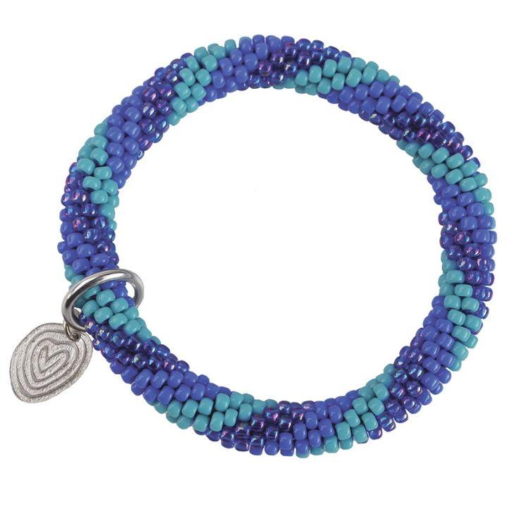 A Beautiful Story sieraden | Studio Art Styles  | Armband | handmade | Twist spiral cobalt bracelet