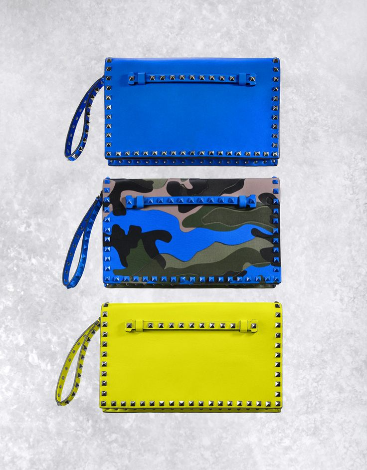 THE VIVIDS - Valentino Rockstuds in attention-getting hues. 212 872 2577